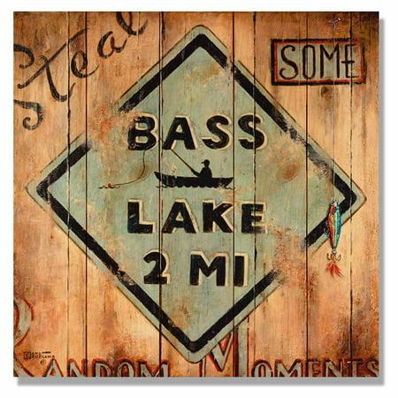 Daydream Signature Series Kruskamps Bass Lake Indoor / Outdoor Cedar Wall Art ()