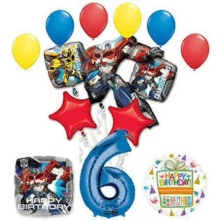 The Ultimate Transformers 6th Birthday Party Supplies and Balloon Decorations (Transformer Pinata)