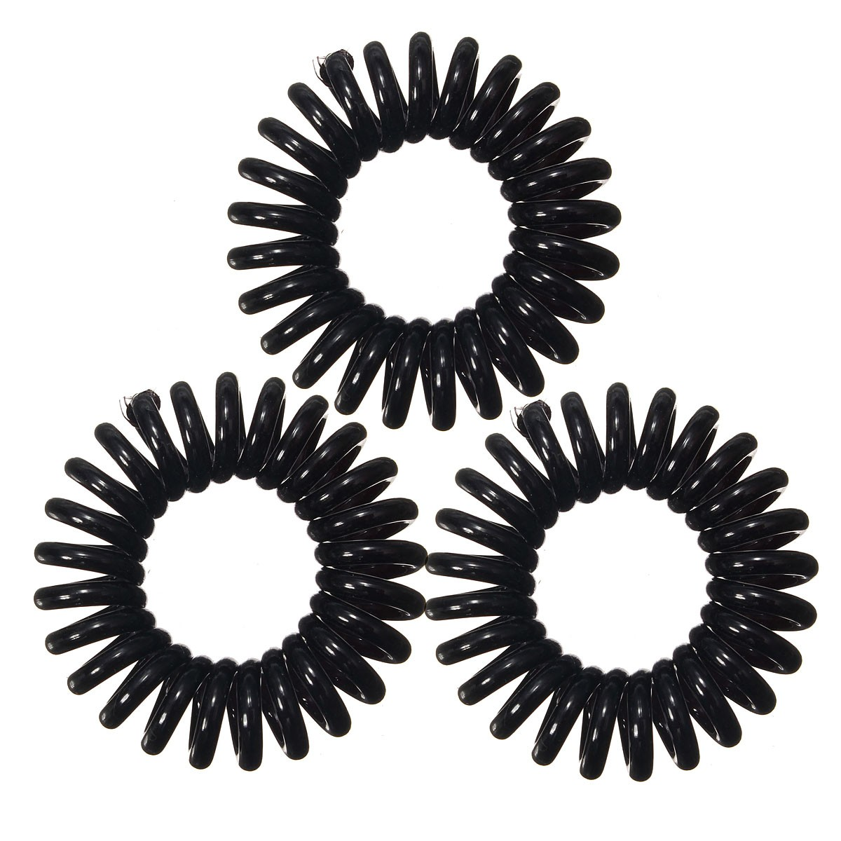 3Pcs/Pack Spiral Slinky Hair Head Bands Elastics Bobbles Ties Scrunchies Accessories