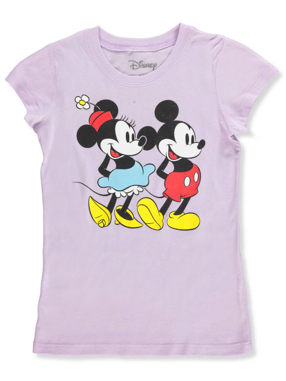 Disney Girls' T-shirt Featuring Mickey and Minnie Mouse