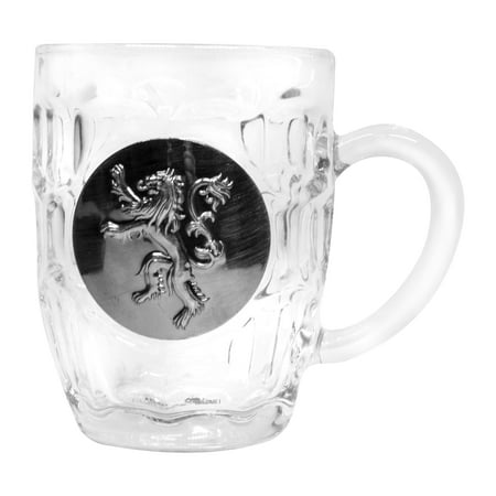 Game of Thrones House Lannister Crystal Stein | Unique Drinking Glass | 16 (Drinking Stein)