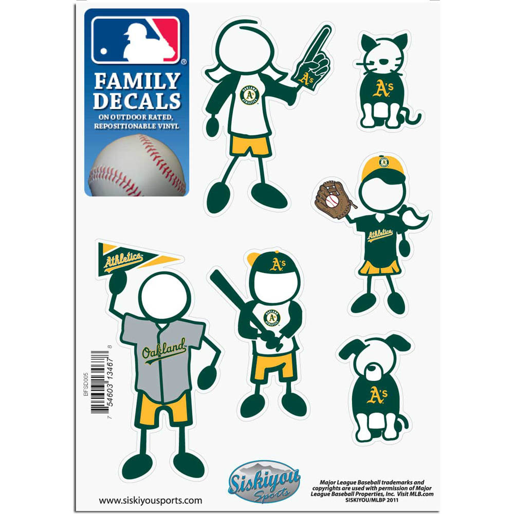 Oakland Athletics Official MLB Small Family Decal Set by Siskiyou 134678