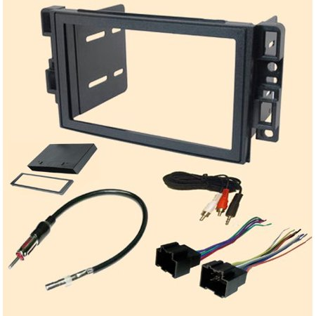 Install Faceplate (Pontiac G3 (2009) - Chevy Aveo Sedan (2007 2008 Sedan Only) Chevrolet Aveo (2009 2010 2011) Stereo wiring Harness, Single or Doulbe Din Dash Install Kit Faceplate.., By Carxtc Ship)