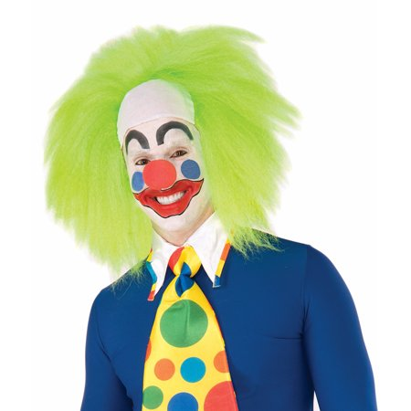 Wild Lime Clown Costume Wig Adult Men
