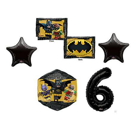 6th LEGO Batman Movie Emblem Birthday Party Mylar Balloon Decorations Supplies