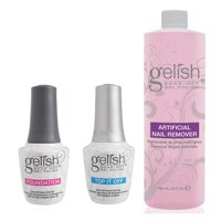 Gelish Dynamic Duo Base & Top It Off Sealer & Soak Off Gel Nail Polish Remover