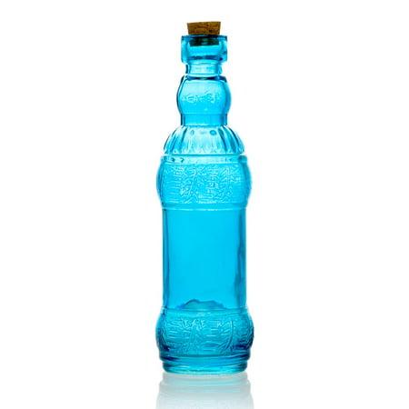 Edna Turquoise Vintage Glass Bottle Wedding Flower Vase