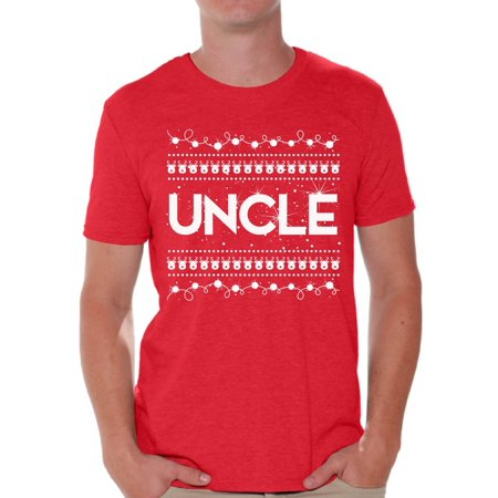 Awkward Styles Uncle Shirt Christmas Tshirts for Men Christmas Uncle Shirt Men's Holiday Top Best Uncle Christmas T Shirt Funny Tacky Party Holiday Uncle Ugly Christmas Tshirt Christmas Gift for (Best Party T Shirts)