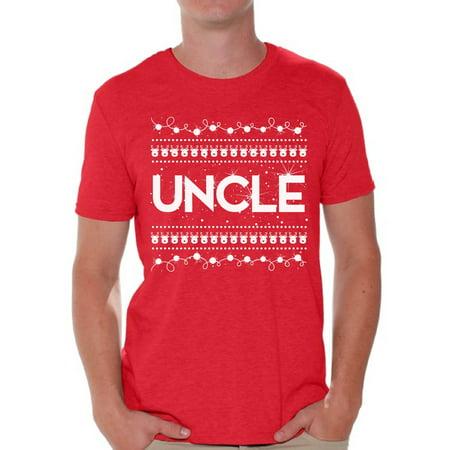 Awkward Styles Uncle Shirt Christmas Tshirts for Men Christmas Uncle Shirt Men's Holiday Top Best Uncle Christmas T Shirt Funny Tacky Party Holiday Uncle Ugly Christmas Tshirt Christmas Gift for