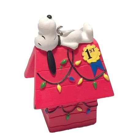 Hallmark Peanuts Snoopy on Doghouse Christmas Ornament - Snoopy Christmas Ornament