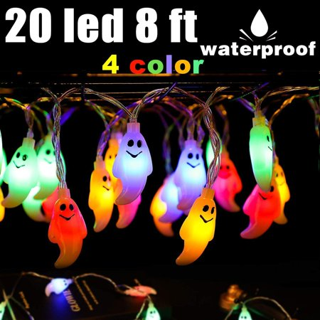 Halloween Ghost String Lights 8ft 20 Led Battery Operated Halloween