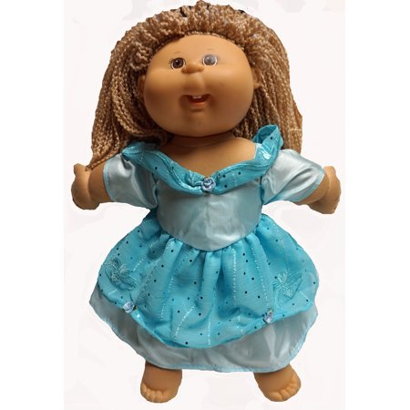 Blue Princess Dress Fits Cabbage Patch Kid And 15-16 Inch Baby - Well Dressed Kid