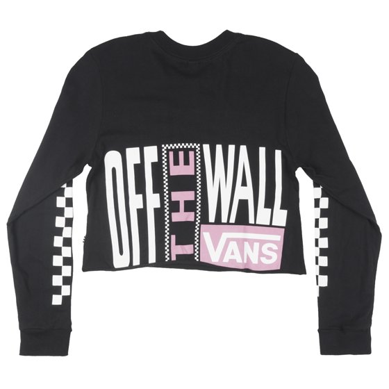 e947b0bc623ab7 VANS - VANS Screen Print Long Sleeve Cropped T-Shirt Skatewear Tee ...