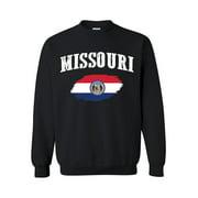Unisex Missouri State Flag Crewneck Sweatshirt