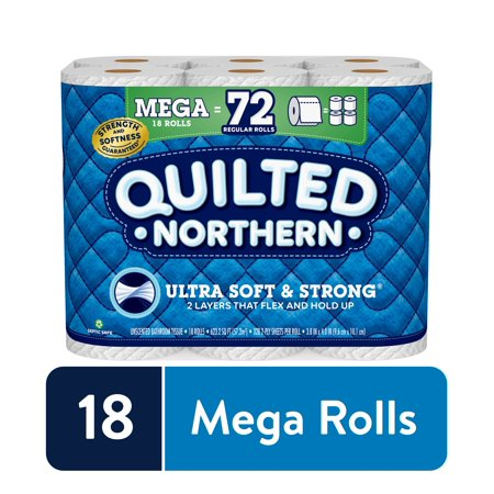 Quilted Northern Ultra Soft & Strong Toilet Paper, 18 Mega Rolls (= 72 Regular Rolls)