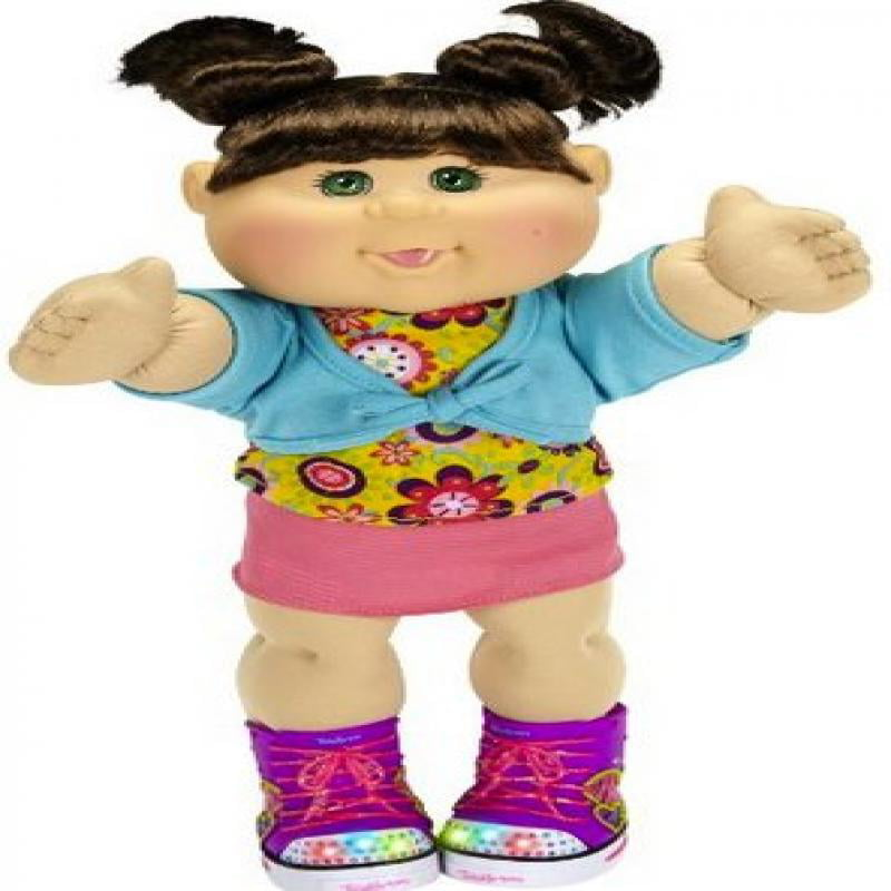 Cabbage Patch Kids TWINKLE TOES W Light Up Skechers Shoes Blue Eyes Doll by