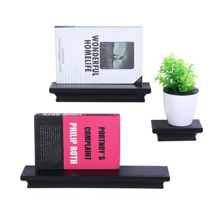 Yosoo Shelves 3PCS, 1 Set Wall Floating Board Shelf Storage Shelves Bookshelf Shop - Shelf Board