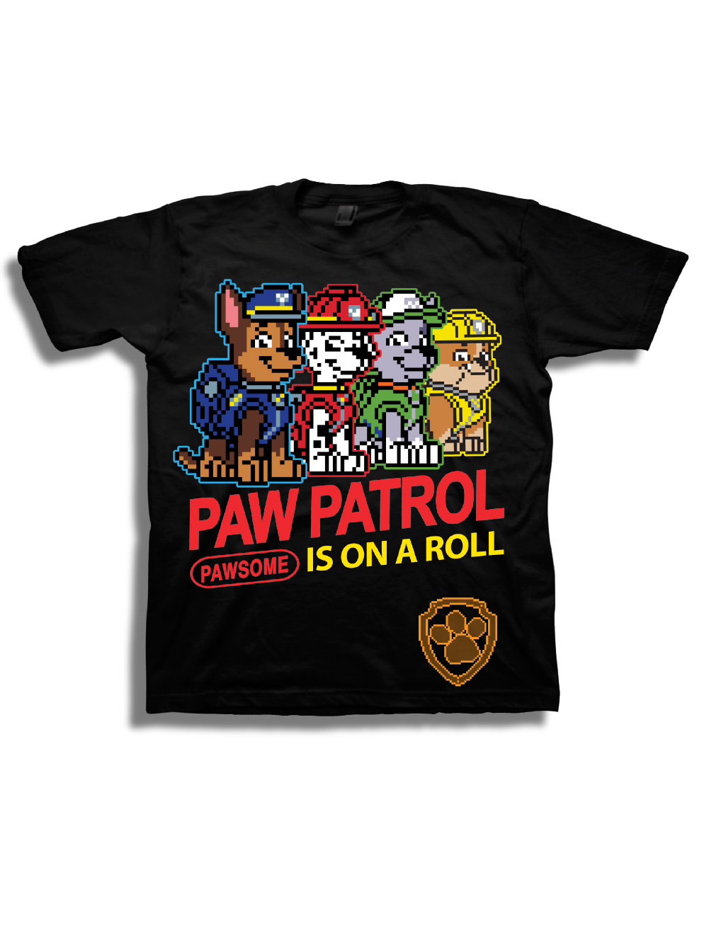 "Boys' "" Is On A Roll"" 8 Bit Characters Short Sleeve Graphic T-Shirt"
