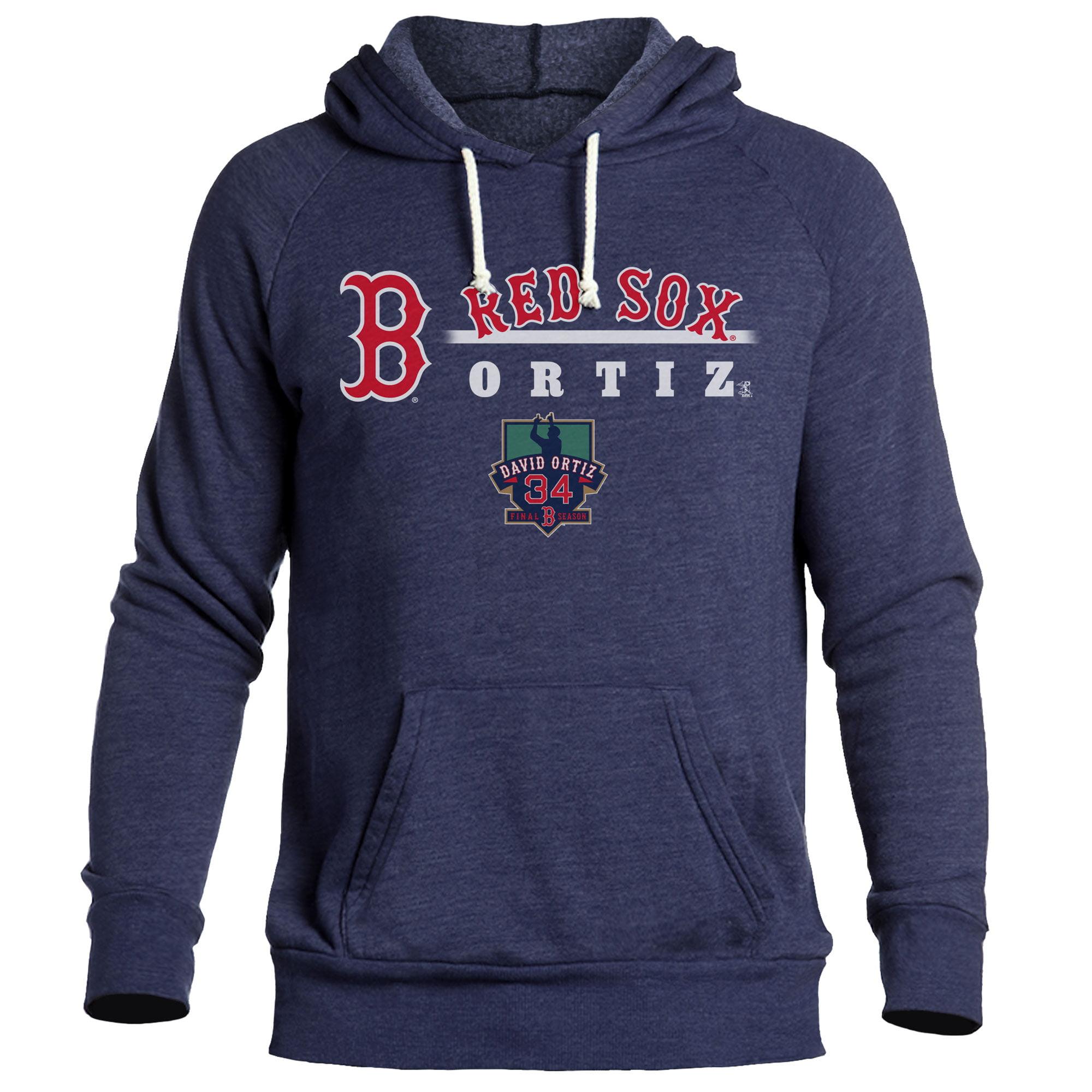 David Ortiz Boston Red Sox Majestic Threads Final Season Tri-Blend Pullover Hoodie - Navy