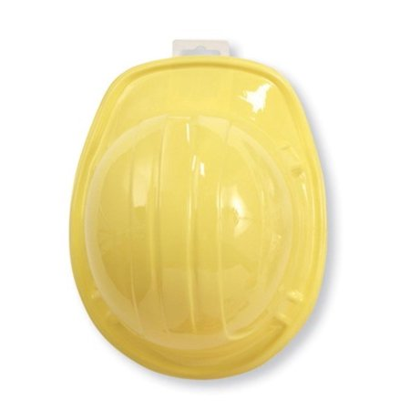 Club Pack of 12 Yellow Child Size Under Construction Plastic Hard Hats