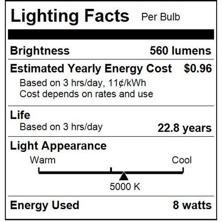 Sunlite R20/LED/8W/D/50K 8 Watt R20 Lamp Medium (E26) Base Super White