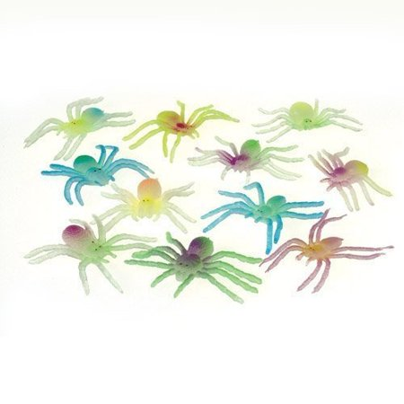 Glow in the Dark Spiders - 12 per - Suoni Spaventosi Per Halloween