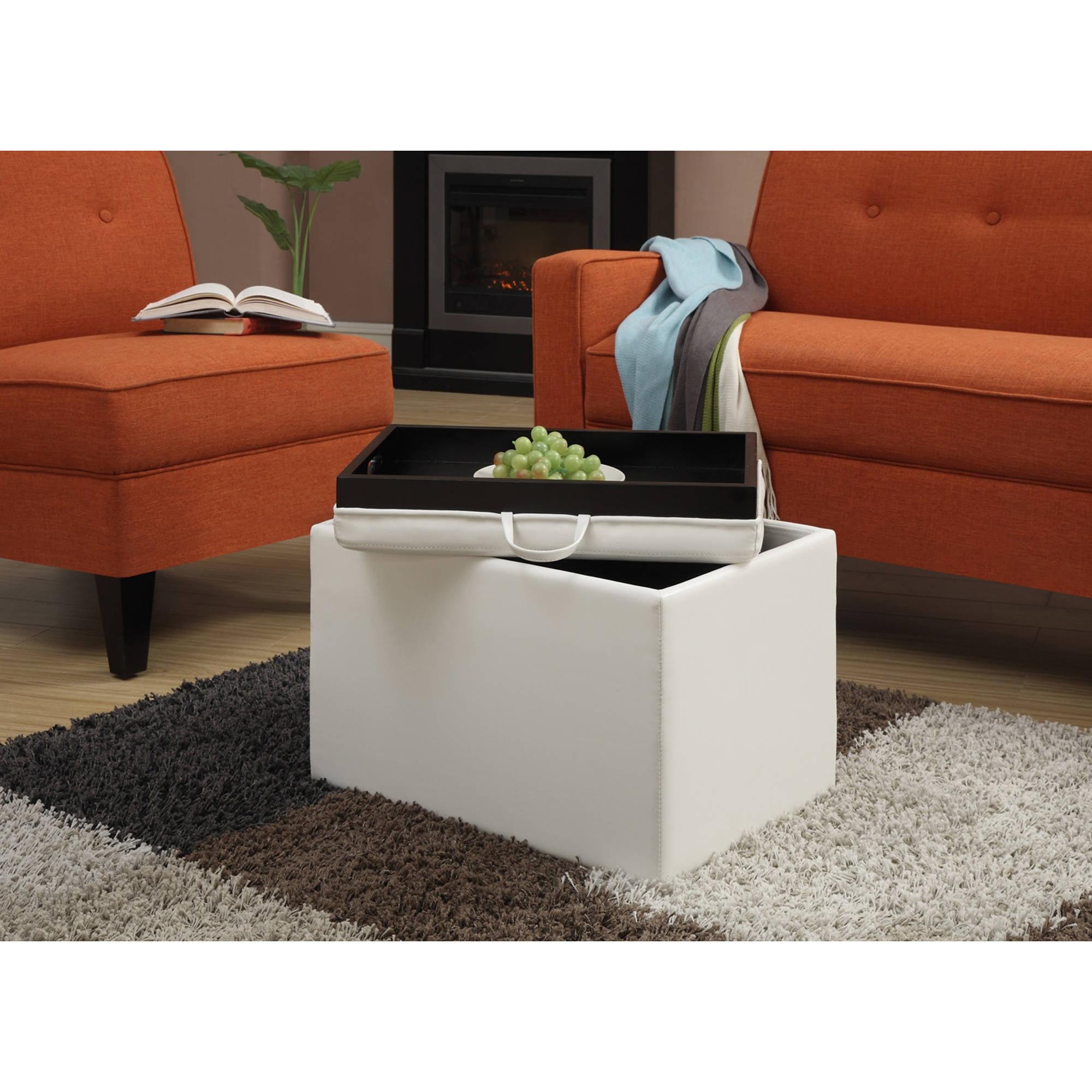 Convenience Concepts Designs4Comfort Accent Storage Ottoman, Multiple Colors