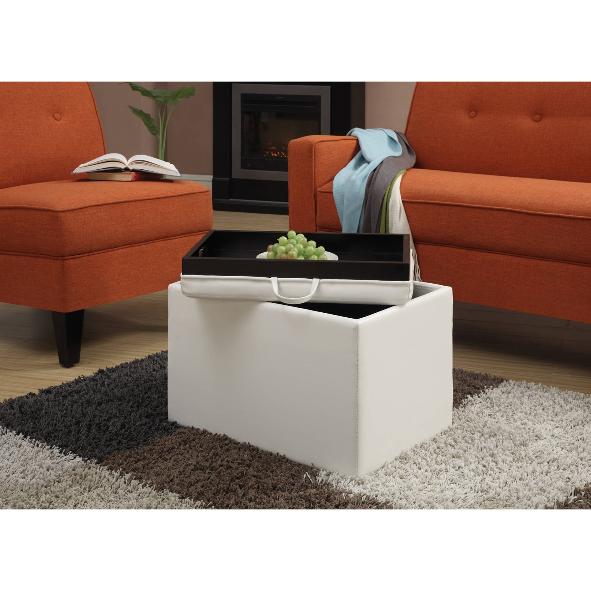 Convenience Concepts Designs4Comfort Accent Storage Ottoman, Multiple Colors