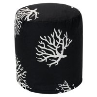 Majestic Home Goods Coral Indoor Outdoor Ottoman Pouf