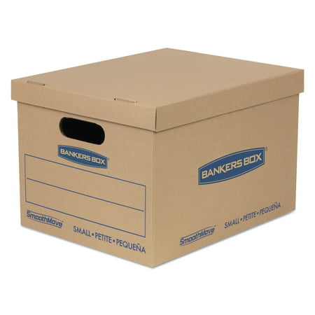SmoothMove BankersBox Classic Moving Boxes, Small, 10