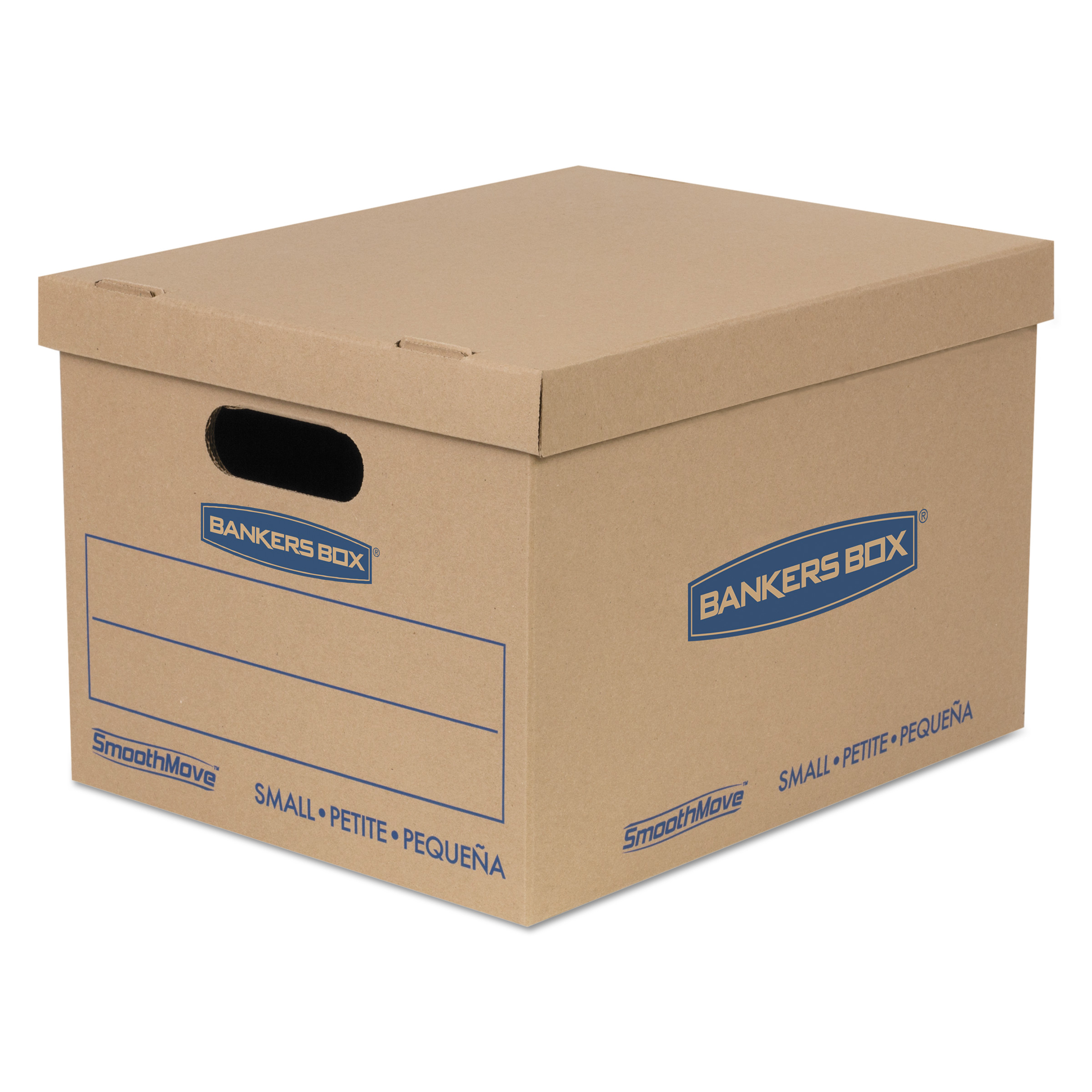 "SmoothMove BankersBox Classic Moving Boxes, Small, 10"" x 12"" x 15"", 10 Count"