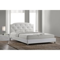 Baxton Studio Canterbury Leather Contemporary, Multiple Sizes, Multiple Colors