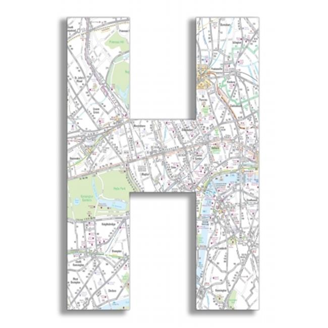 Stupell Industries OHI-116-H London Map 18 Inch Hanging H