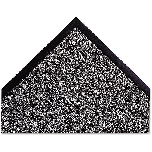 "Crown Dust Star Microfiber 48"" x 72"" Wiper Mat, Charcoal"