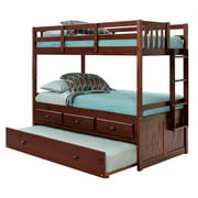 83 in. Twin Over Twin Bunk Bed with Trundle