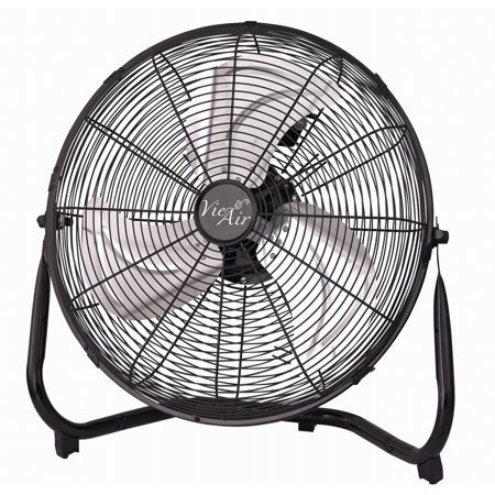 Vie Air 14 Industrial High Velocity Heavy Duty Metal Floor Fan with 3 Speed Settings