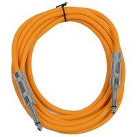 "Seismic Audio  - Orange 1/4"" TS 10' Patch Cable - Effects - Guitar - Instrument Orange - SASTSX-10Orange"