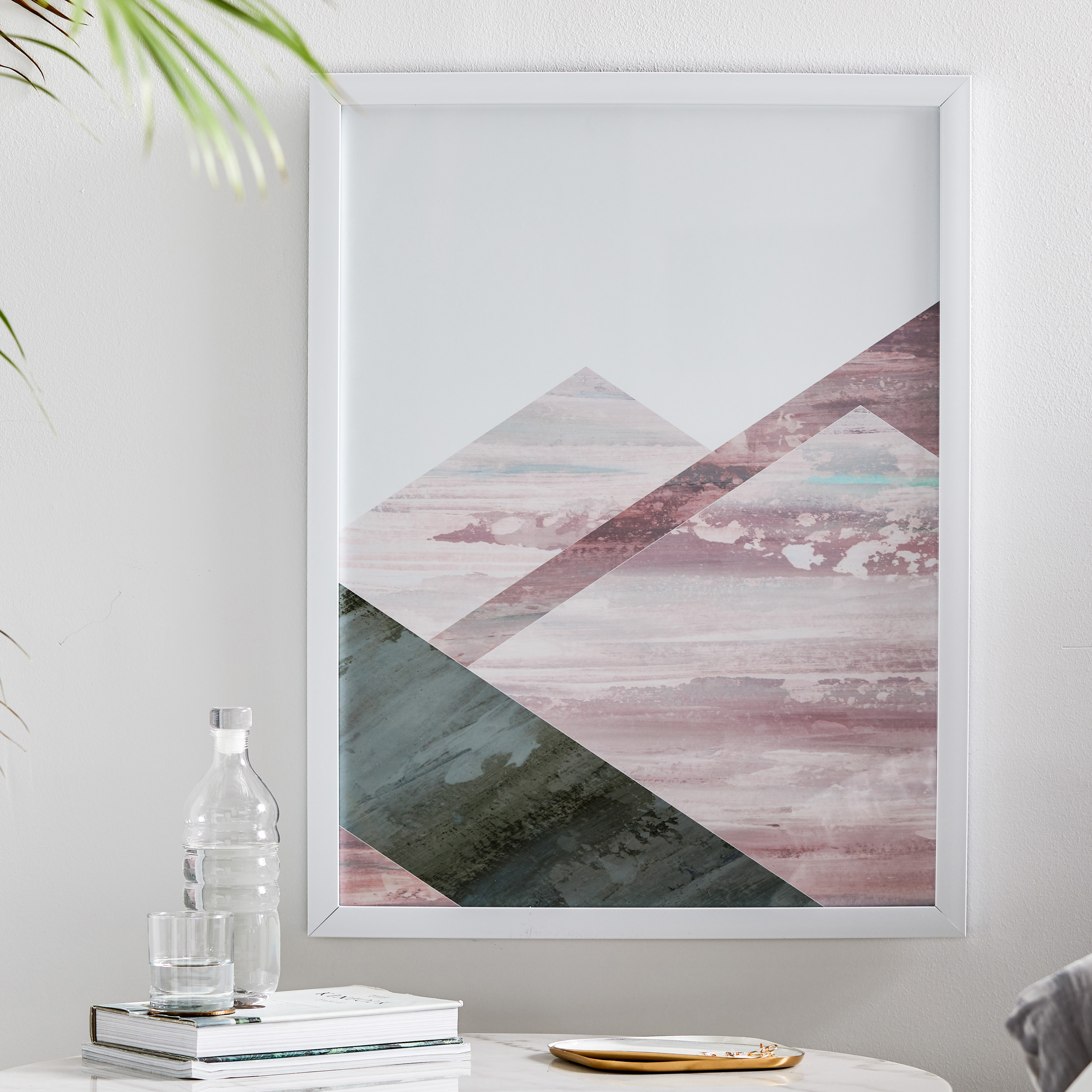 MoDRN Glam Pink Geo Shapes Left Wall Art
