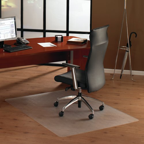 "Floortex ClearTex Ultimat Anti-Slip Chair Mat for Hard Floors, 48"" x 60"", Clear"