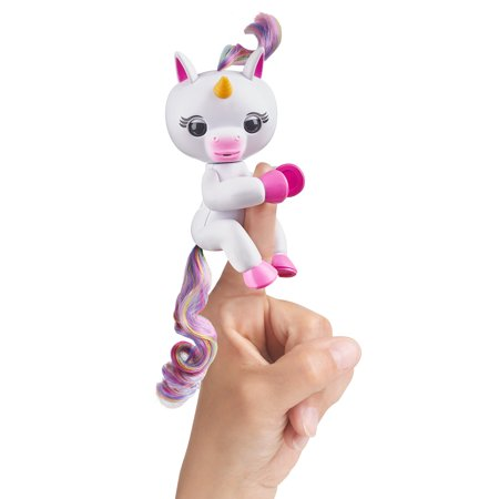 Fingerlings- Interactive Baby Unicorn - Gigi (White with Rainbow Mane) - By WowWee