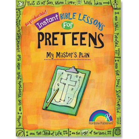 Instant Bible Lessons: My Master's Plan : Preteens - Halloween Lesson Plans For High School Students