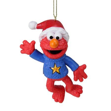 """Kurt Adler 4"""" Lighted Sesame Street Laughing Elmo Christmas Ornament - Red/Blue"""