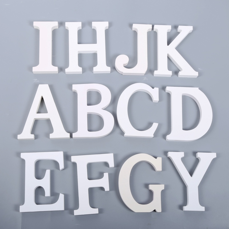 ENJOY Modern Home Decor Letters Alphabet A to Z Wooden Wall Decor Stickers For Birthday Wedding Party Christmas Tree Decoration