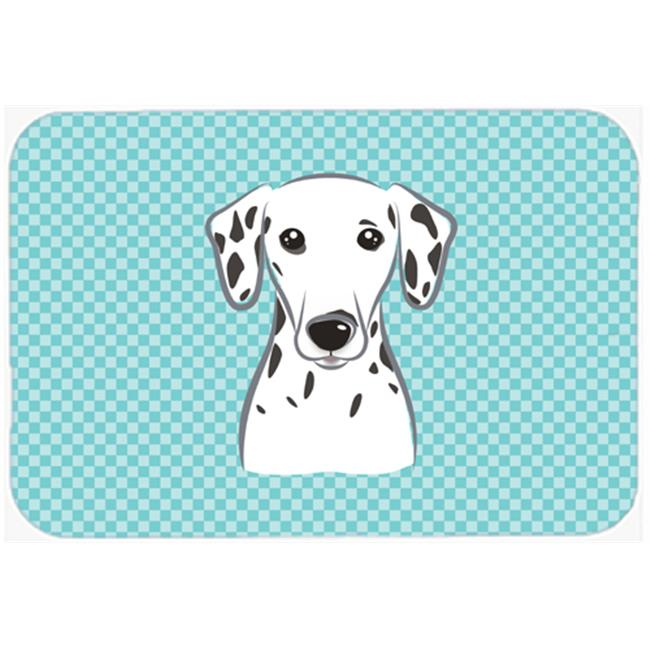 Checkerboard Blue Dalmatian Mouse Pad, Hot Pad Or Trivet, 7.75 x 9.25 In.