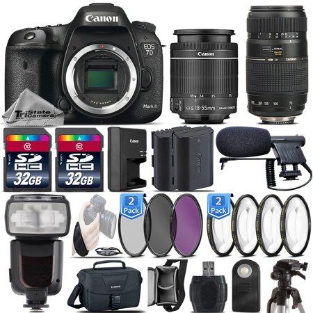 Canon EOS 7D Mark II DSLR Dual DIGIC 6 1080p Camera + 18-55mm IS STM +