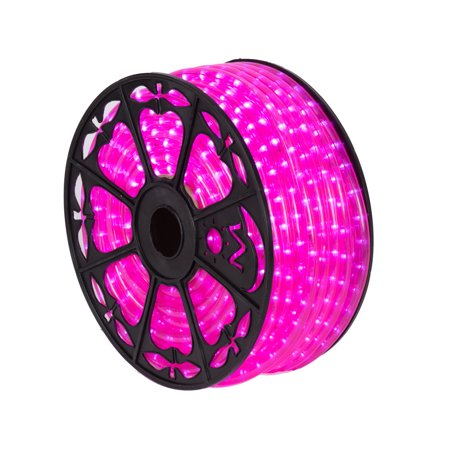 "Image of ""150' x .5"""" Pink LED Rope Light 120V"""