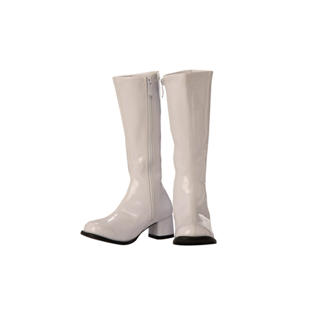 Child GoGo Boot White Halloween Costume Accessory (White Burlesque Costumes)