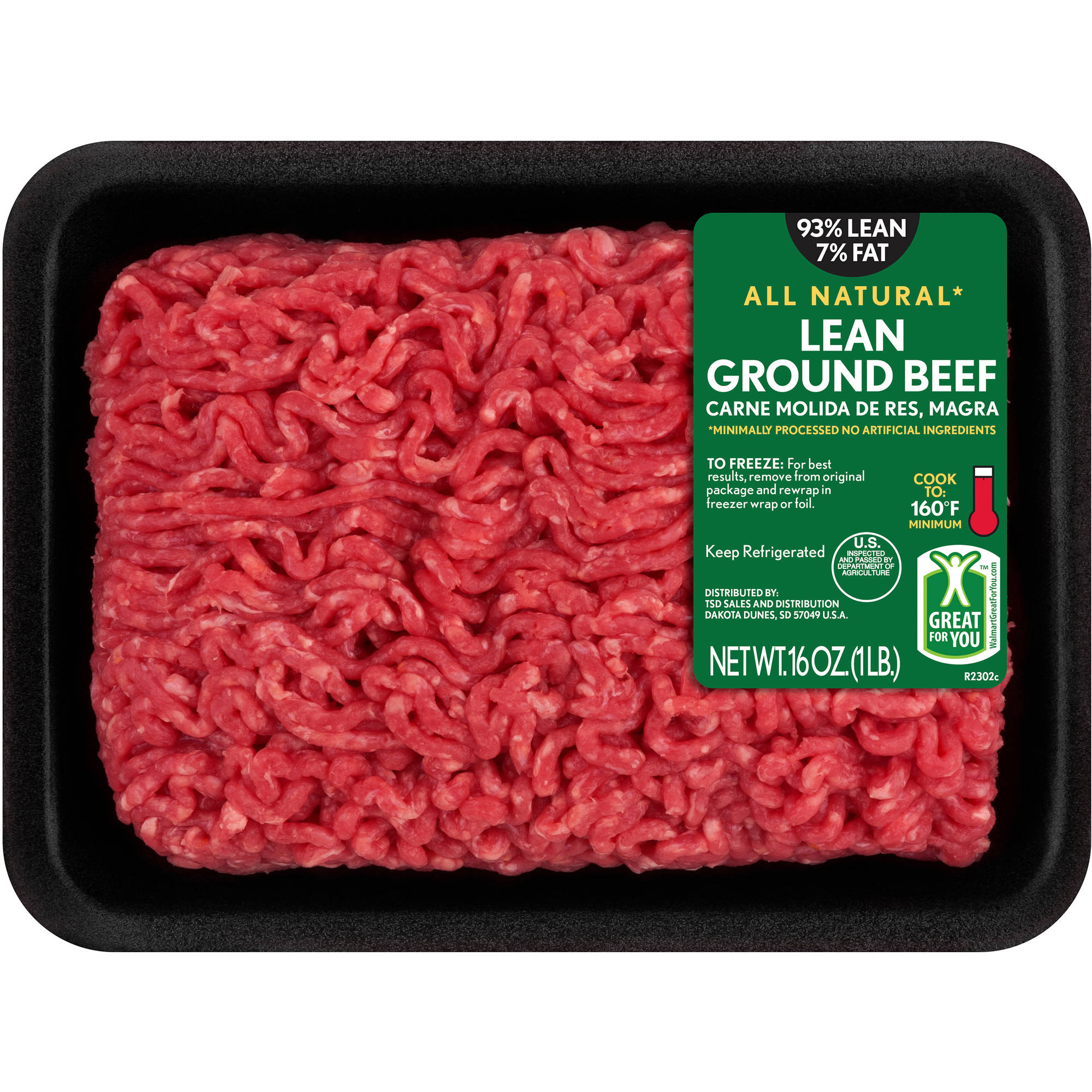 93% Lean/7% Fat Lean Ground Beef, 1 lb