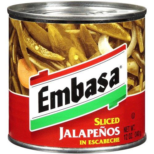 Embasa Sliced Jalapenos In Escabeche, 12 oz (Pack of 12)