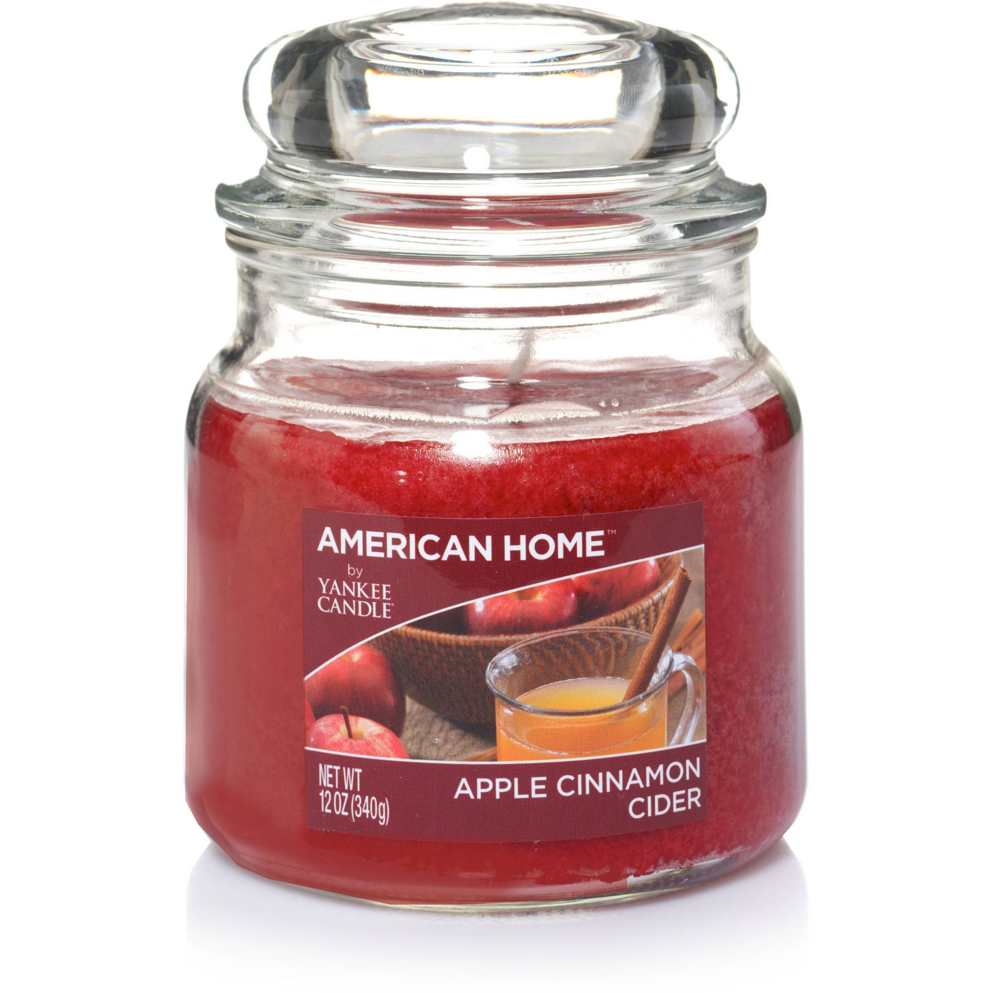 American Home by Yankee Candle Apple Cinnamon Cider, 12 oz Medium Jar